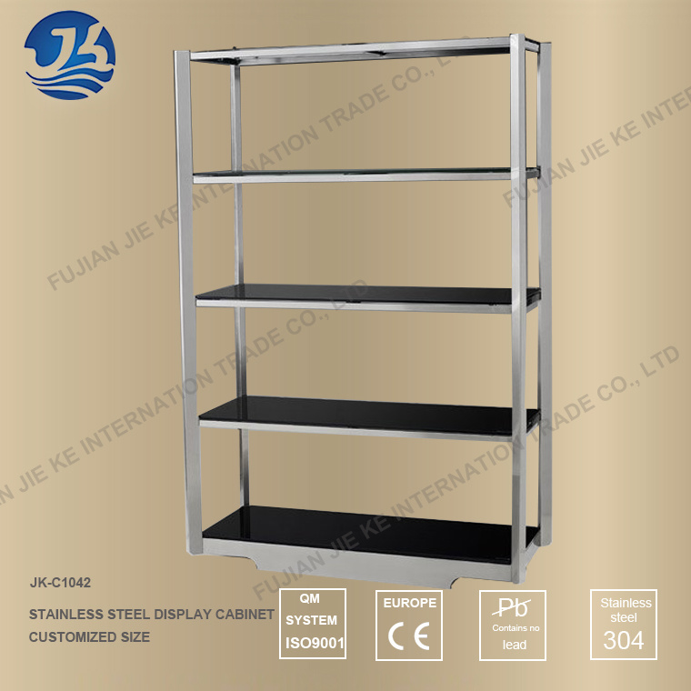 China Multilayer Stainless Steel Storage Display Stand Kitchen Shelf Etagere