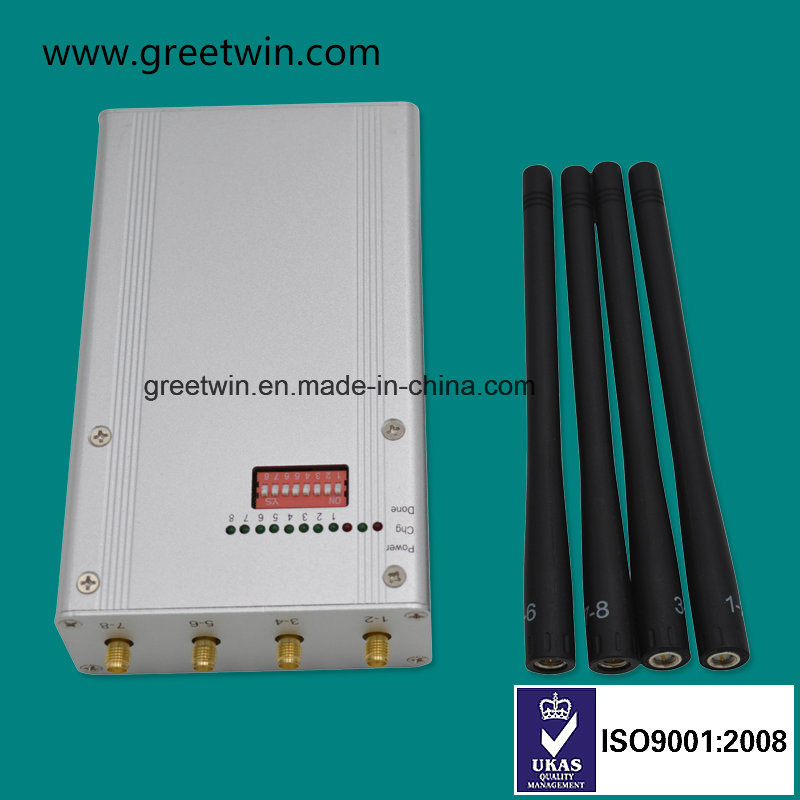 8 Frequency Band Portable Mobile Phone Signal Jammer with 4 Antennas (GW-JN8DGN) pictures & photos