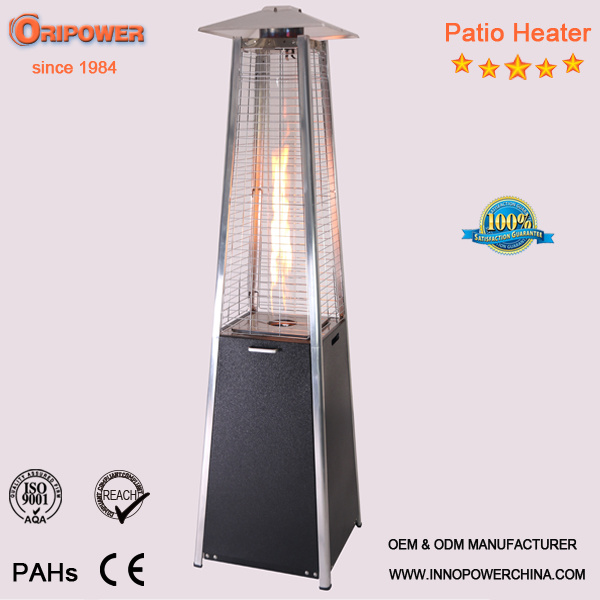 China Black Steel Patio Heater 1 9m S Gl Flame Pyramid Outdoor