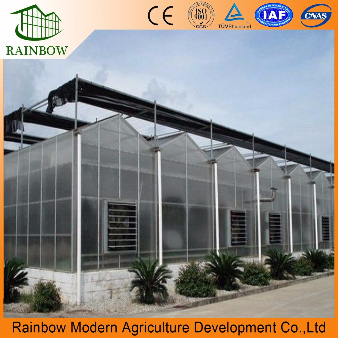China hop deep galvanize steel pipe kits commercial polycarbonate green house with cooling system china glass green house pc board greenhouse