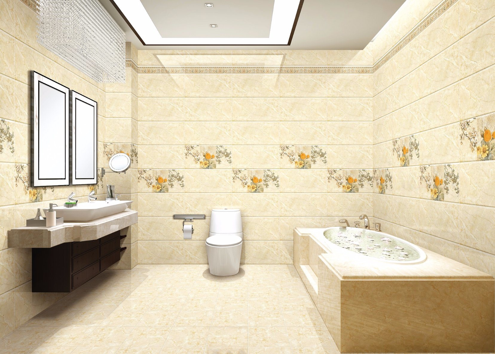 China 300X600 Marble Look Bathroom Ceramic Wall Tile for Interior ...