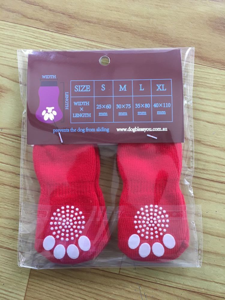 Plain Red Knitting Anti Skid Dog Socks and Shoes pictures & photos