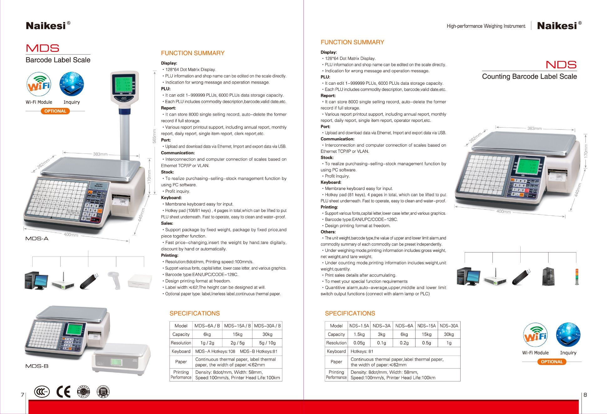 Cash Scale for Covenient Store by Using Internet Management pictures & photos