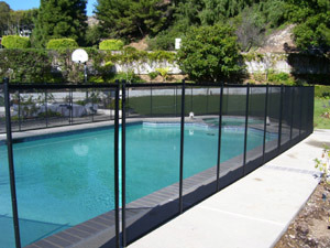 China Baby Guard Pool Safety Fence By Textilene Mesh Pvc Coated