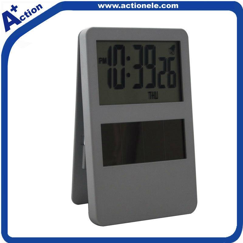 China Solar Power Clip Table Clock with Photo Frame - China Slolar ...
