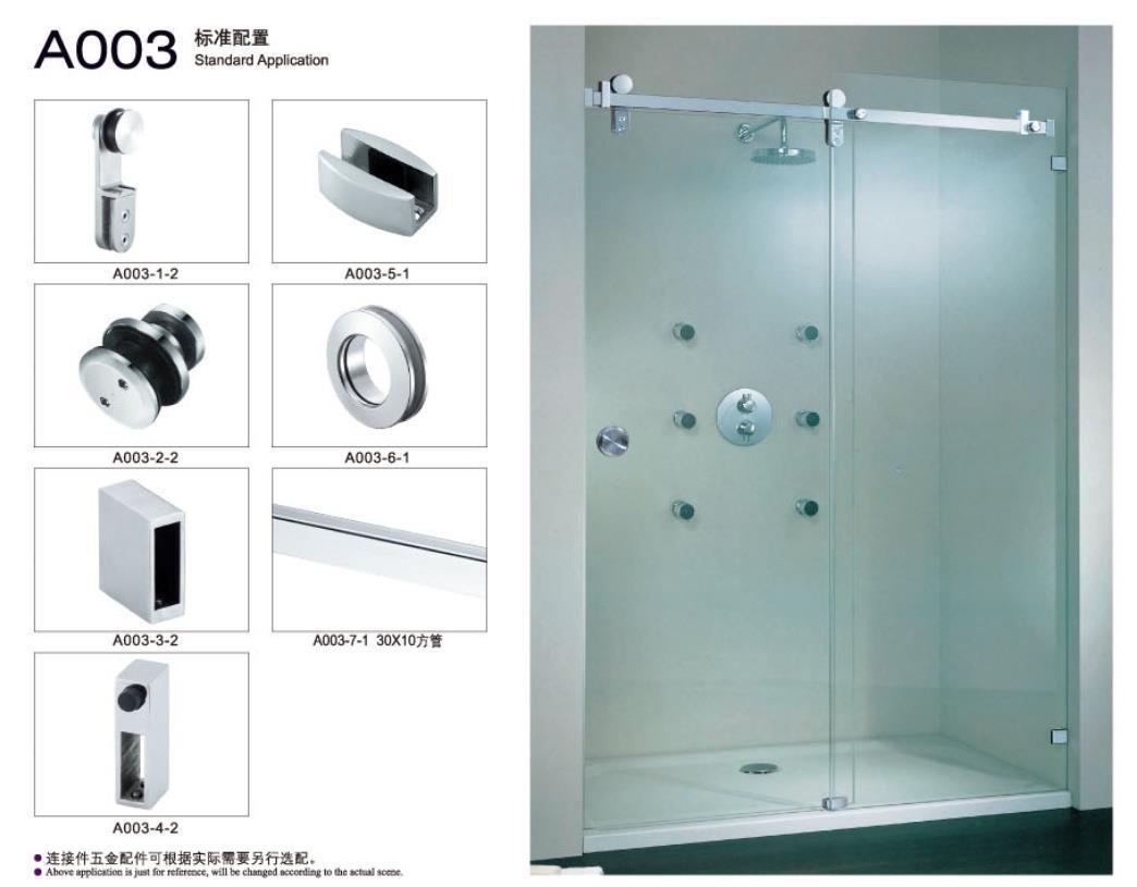 China Shower Sliding Hanging Wheel Roller Door Set Stainless Steel ...