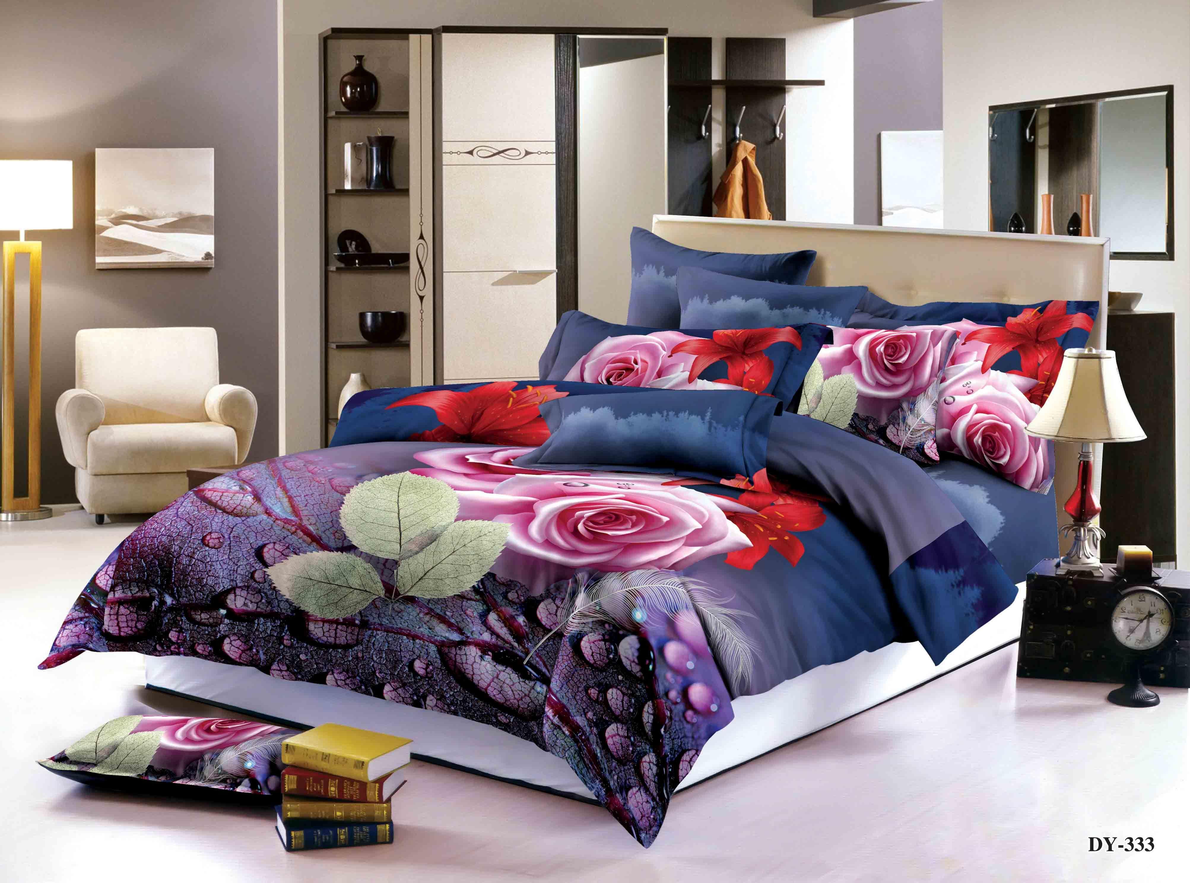 China No Comforter Twin 3d Unicorn Light Purple Bedding Set