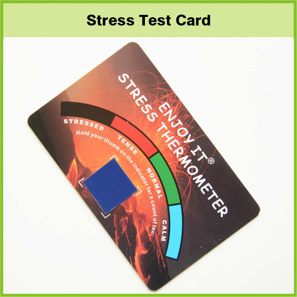 China Custom Printing PVC Business Card Mood Stress Test Card ...