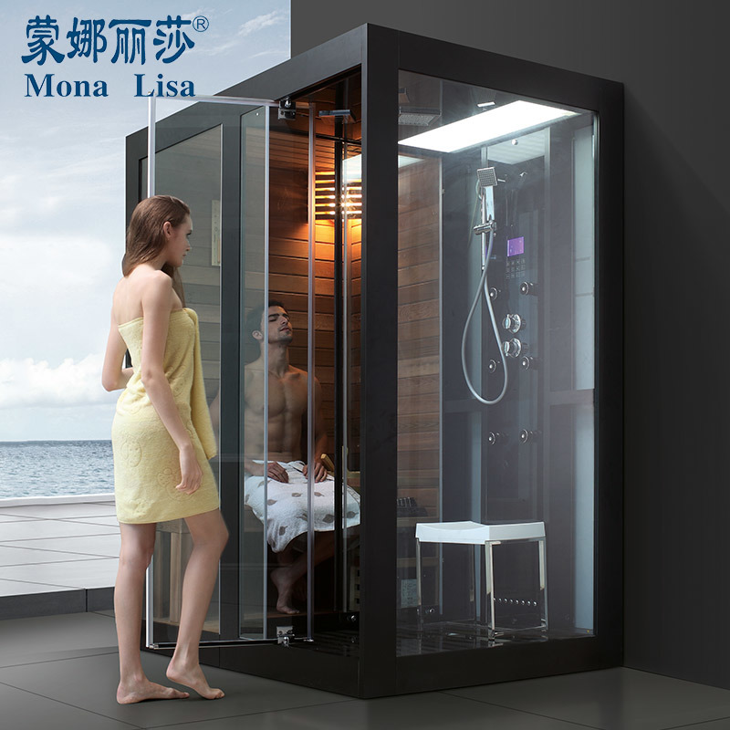 Hot Item The Indoor Fantastic Solid Canada Cedar Steam Shower Sauna Combos