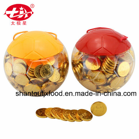 Football Shape Bottle Gold Coin Chocolate