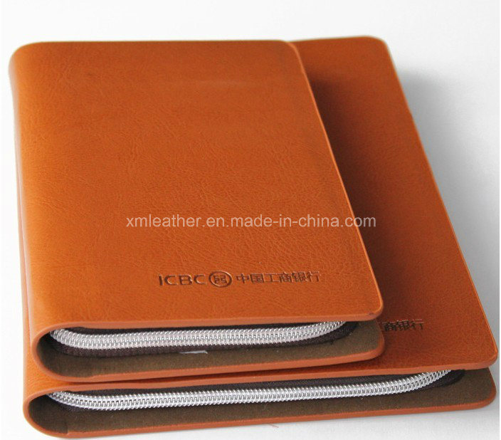 Handmade Zipper A4 A5 PU Leather Planner Organizer Agenda Notebook pictures & photos