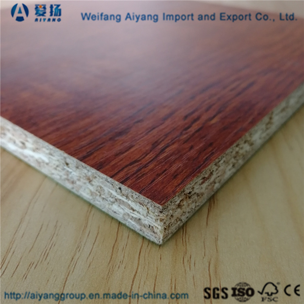 China Melamine Paper Faced Laminated Particle Board For Indoor Furniture