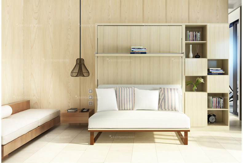 China Modern Murphy Wall Bed With Living Room Sofa Home Furniture Bedroom