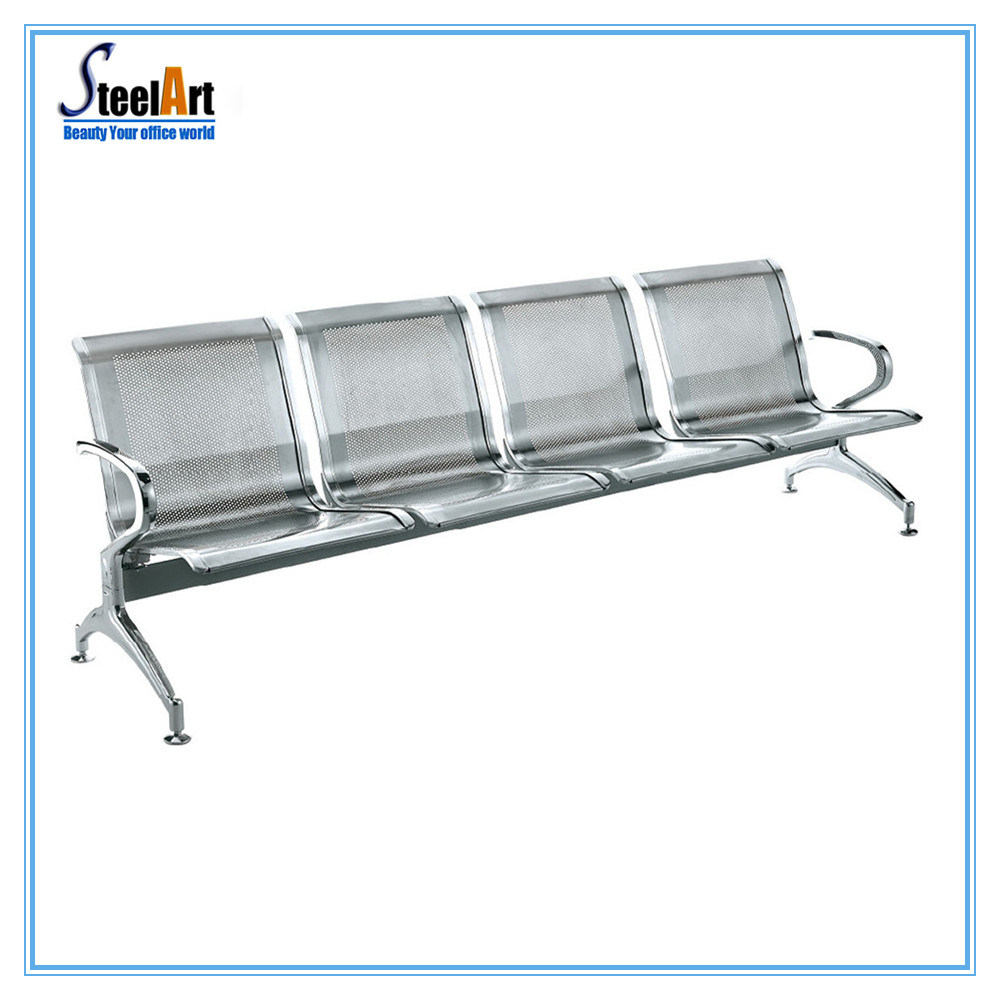 [Hot Item] Public Furniture Stainless Steel 10-Seater Waiting Chair