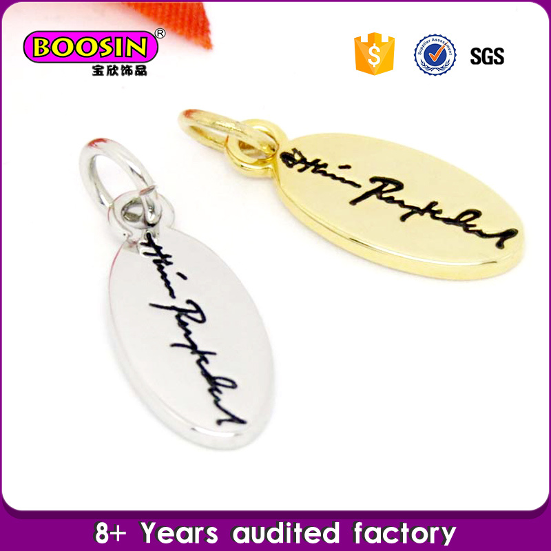 Factory Custom Personalized Metal Logo Tag Charm Jewelry pictures & photos