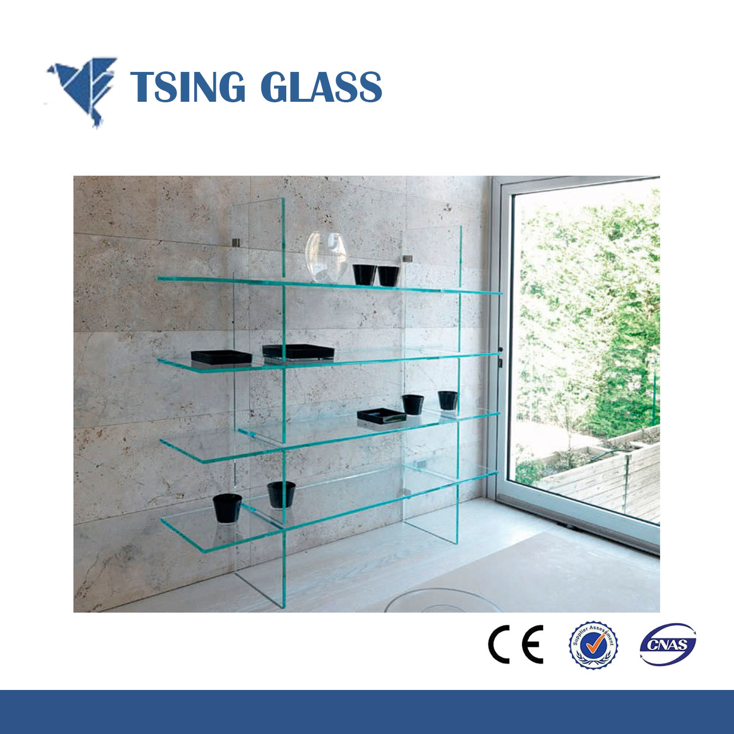 China 3-19mm (frosted) Glass Shelves for Bathroom with Ce & ISO9001 ...