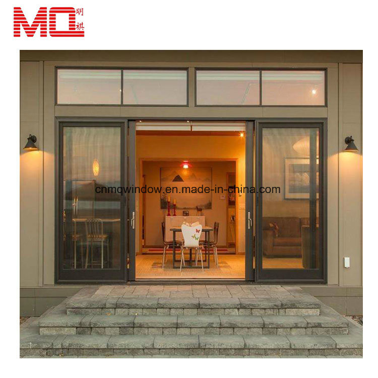 China Commercial Aluminum Stacking Sliding Glass Doors For
