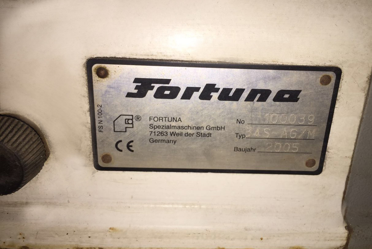 Used Fortuna 45° Leather Skiving Shoe or Bag Making Machine (34S-AG/M)