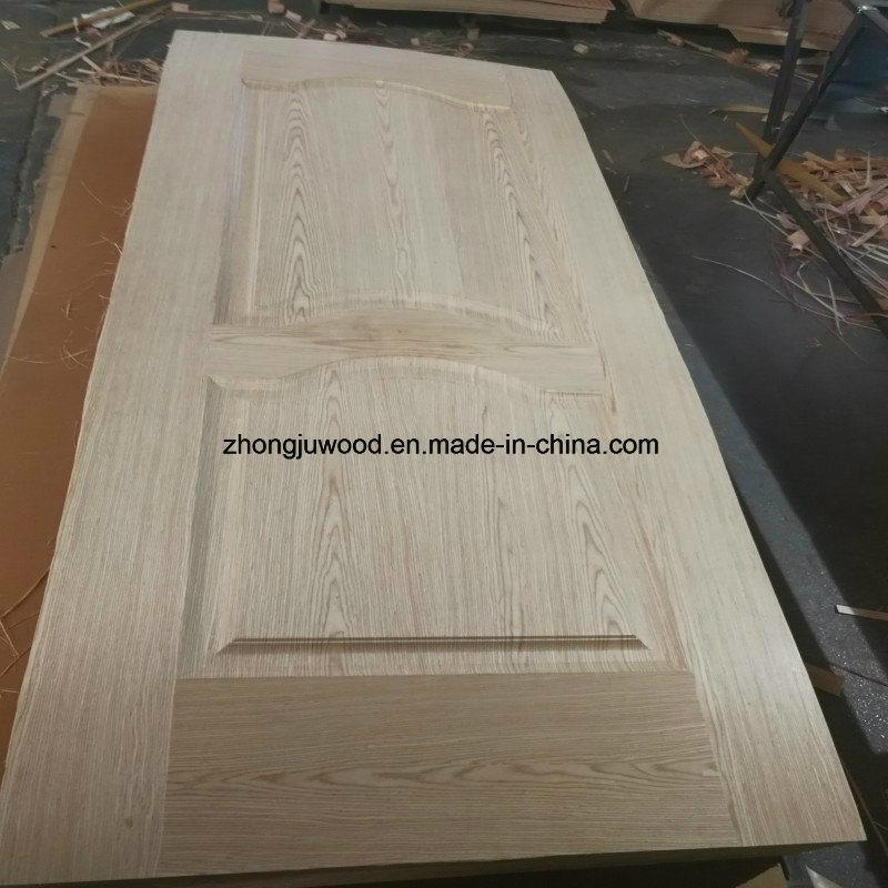 China Mold Door Skin MDF Board with Melamine or Wood Veneer