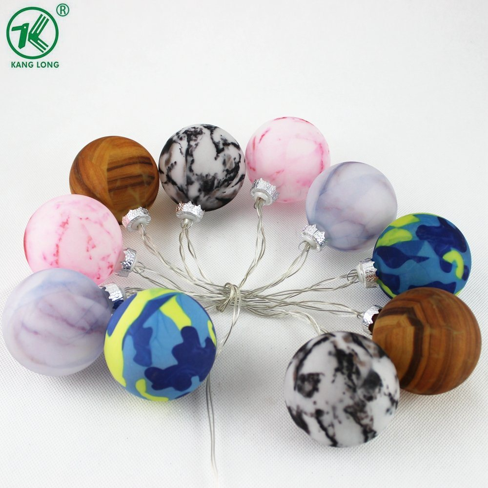 [Hot Item] New Marble Look Glass Ball LED Christmas String Lights 10PCS Set