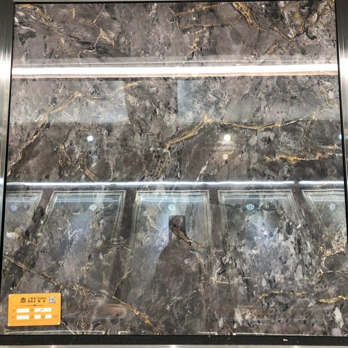 Hot Item Full Body Glazed Tile Indoor Marble Look Porcelain Floor Tile Dark Color Jm83386d