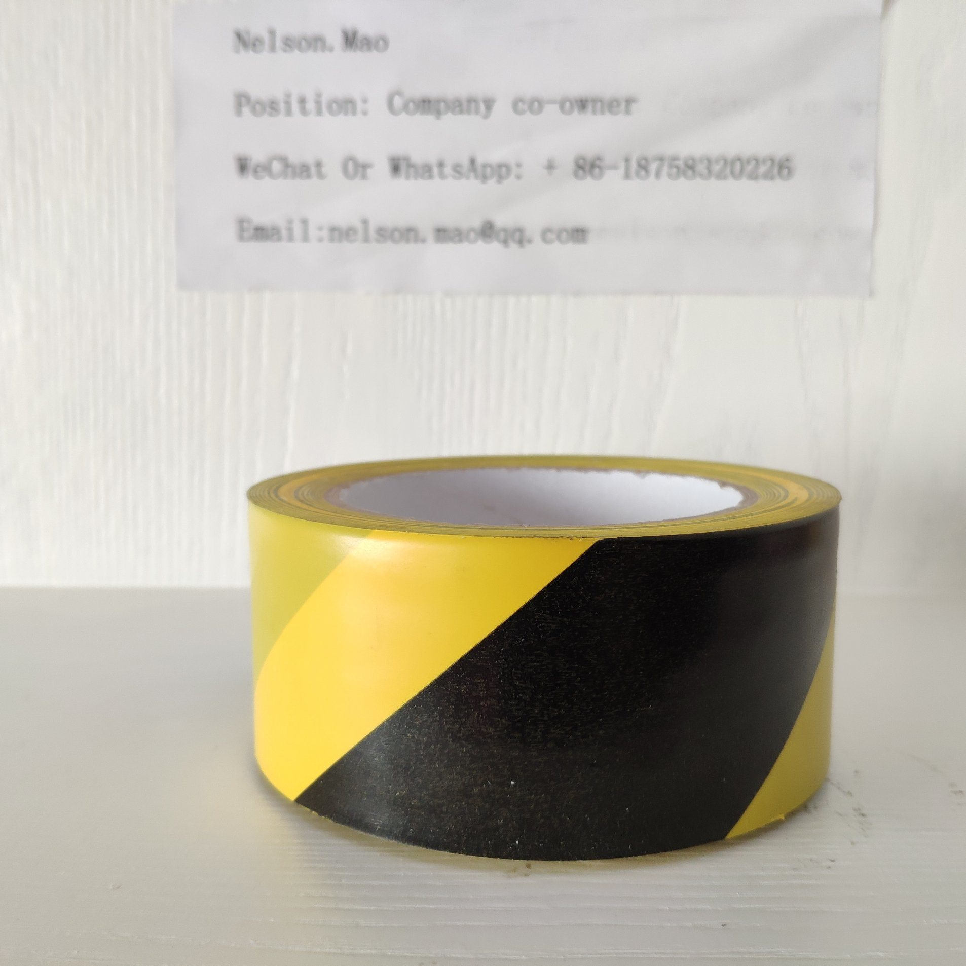 [Hot Item] Yellow and Black Warning Tape for European Market