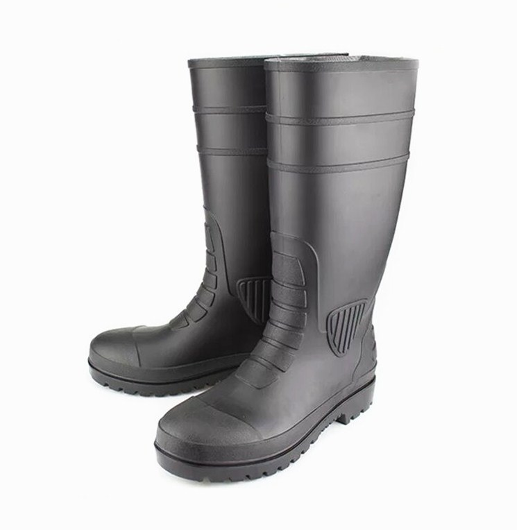 1db8304120e [Hot Item] Black Industrial PVC Safety Rain Shoes with Steel Toe