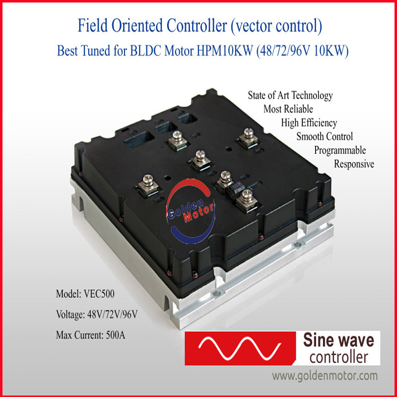 China 10kw sine wave controller for electric car buggy for Dc motor controller for electric car