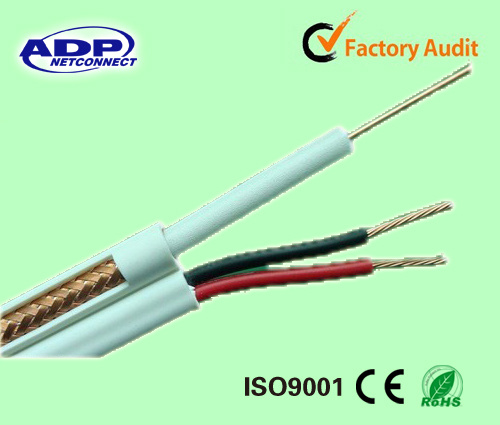 China Rg59u Coax+Power Cable, Rg59u+2*18AWG Power Wire for CCTV ...