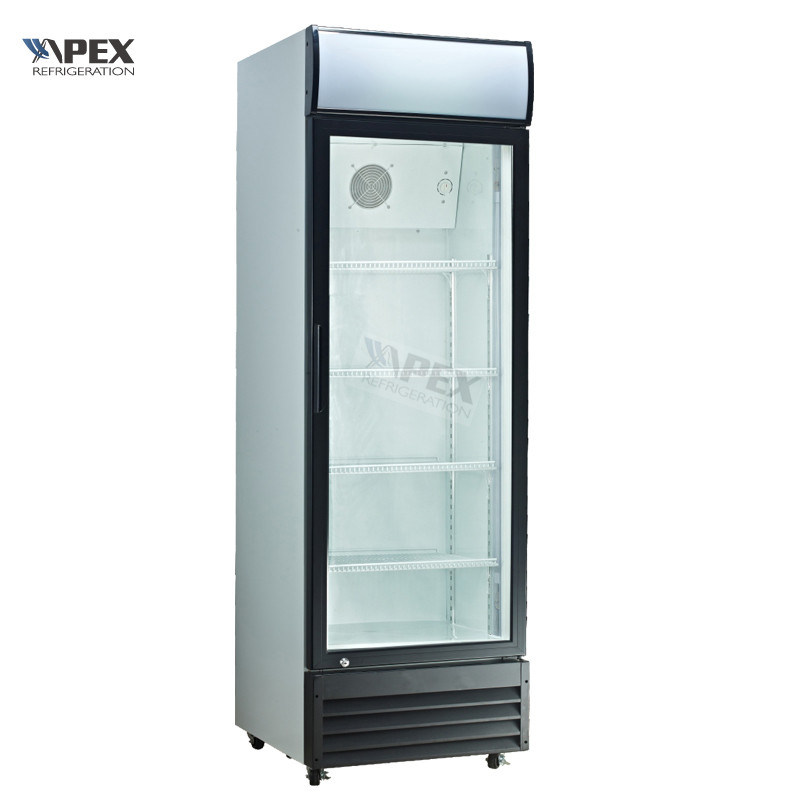 China Commercial Single Glass Door Upright Reach In Cooler Lg 380