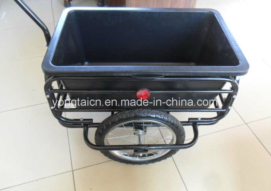 Ce Certificated Bike Bicycle Trailer with 90L Poly Tray
