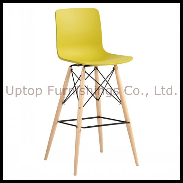Wooden Leg Plastic Eames Bar Stool (SP-UBC246)