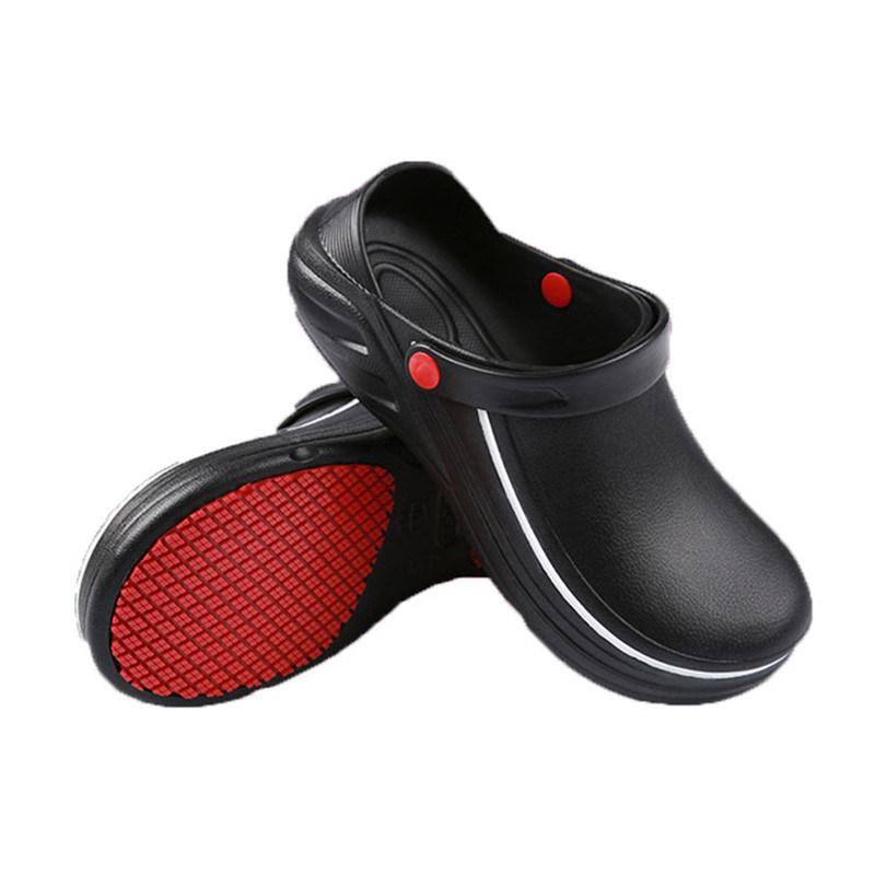 China EVA Non Slip Chef Shoes Black