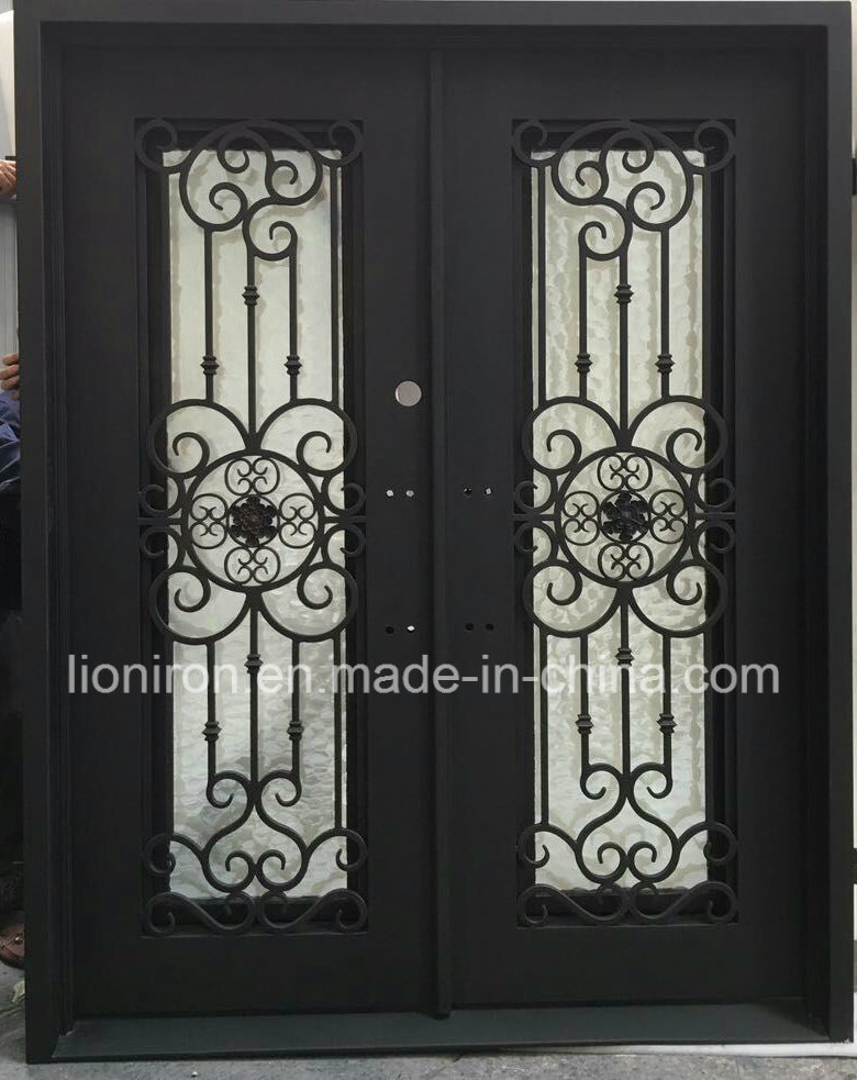 China Best Ing Wrought Iron Double Front Doors For House