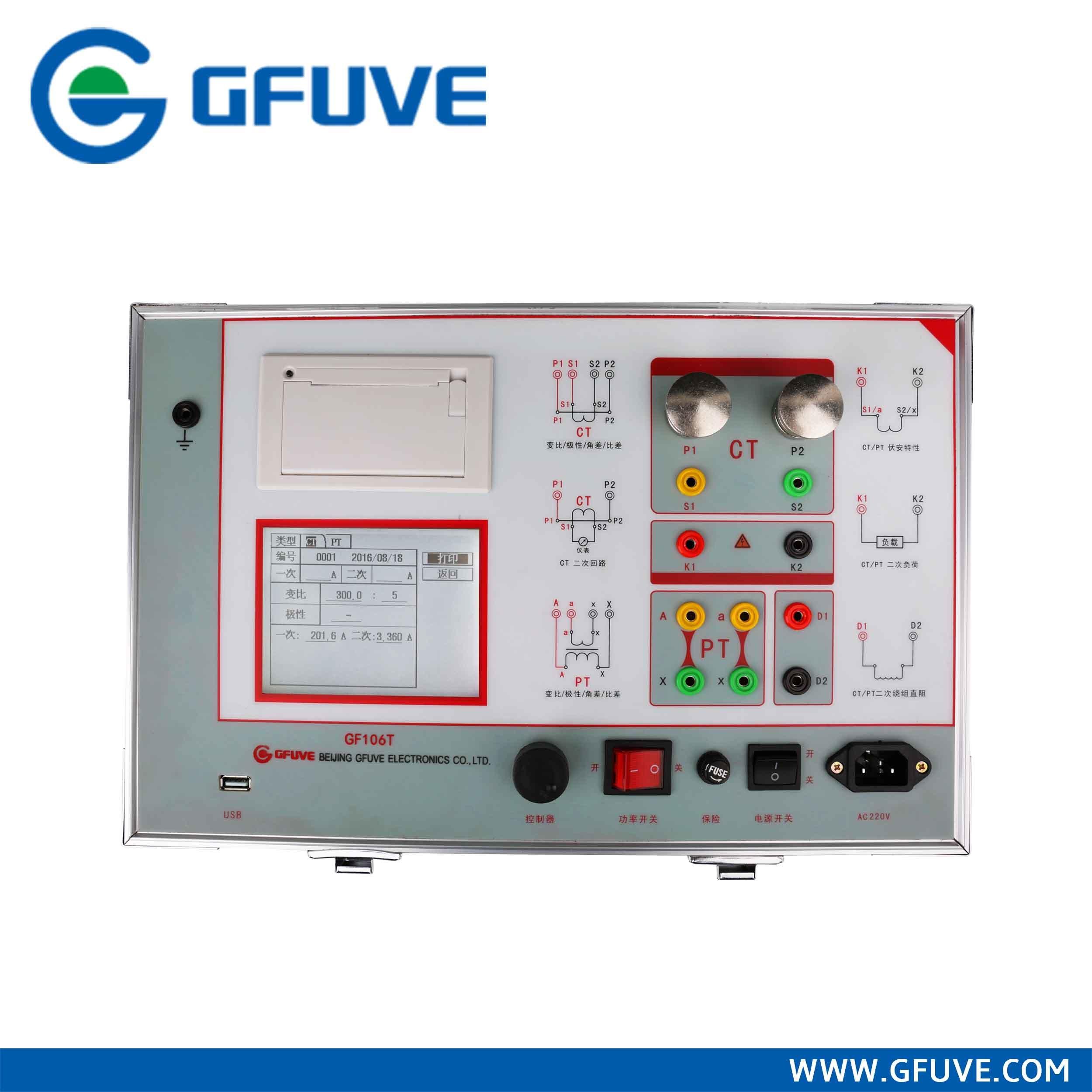 [Hot Item] GF106t USA High Performance Portable PT/CT/Vt Test Kit Set