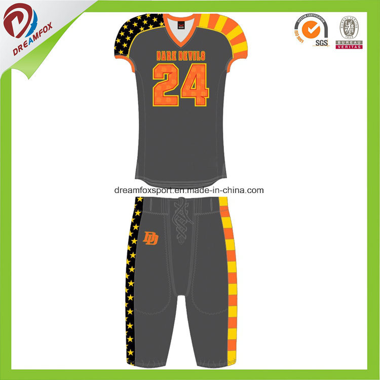 Wholesale Youth Football Team Wear Sublimated Custom Shirt American  Football Uniforms e5a5d0277