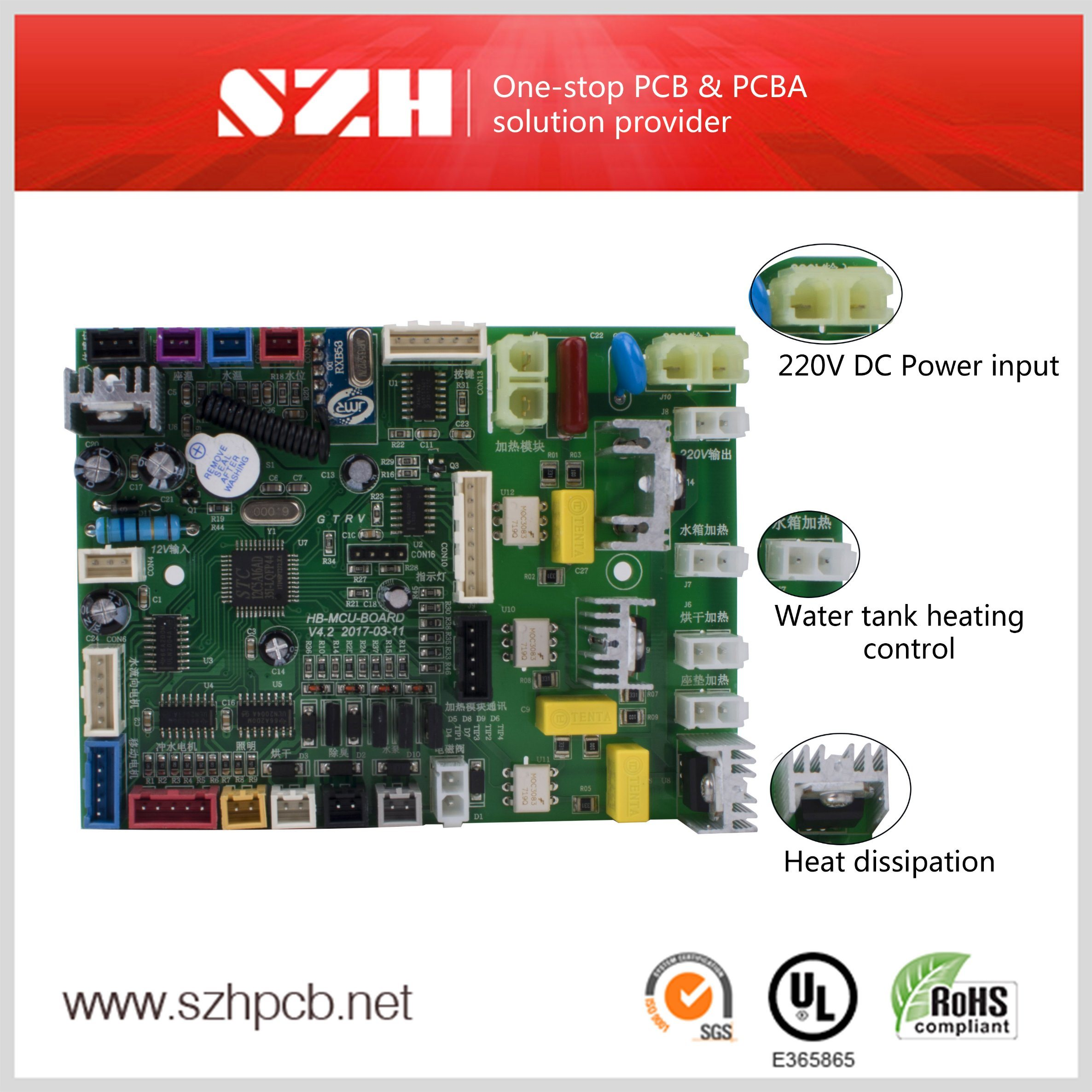 China Smart Bidet Seat Printed Circuit Board Pcba Assembly Service Completely Assembled Pcb