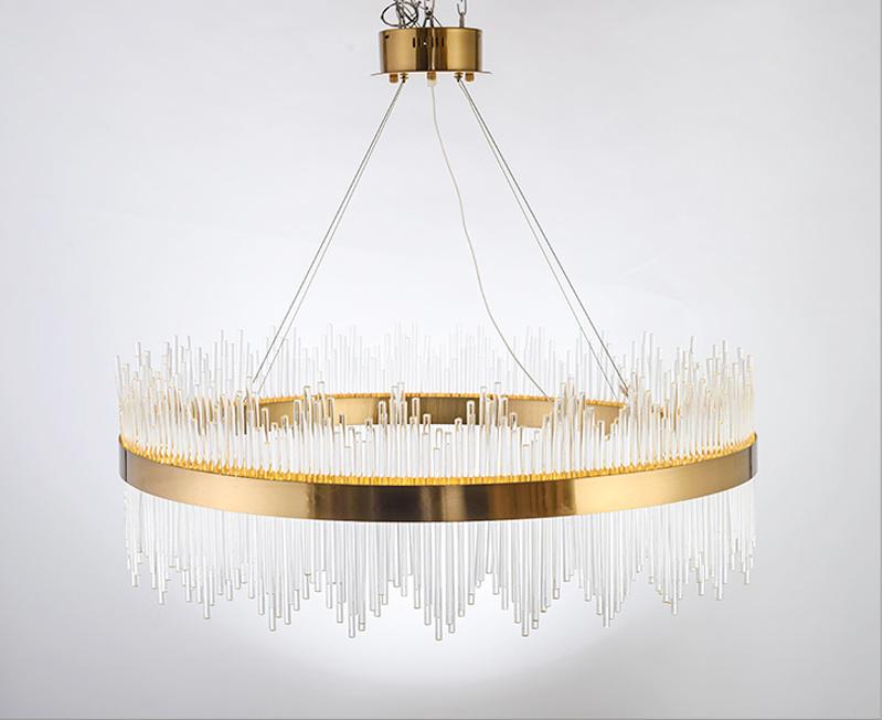 China Custom Made Decorative Project Crystal Pendant Lighting