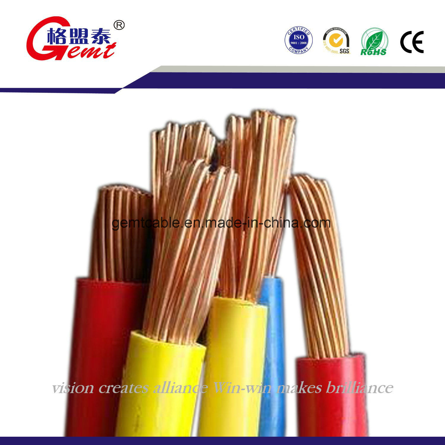 China Rated Voltage 300V Bvr Type Copper Conductor PVC Insulated ...