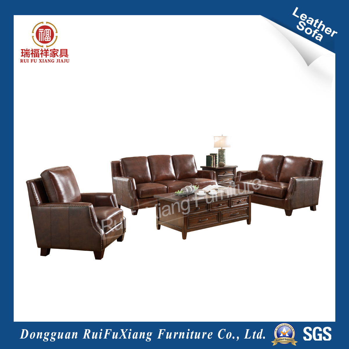 China European Style Leather Sofa for Large House (N333) - China ...