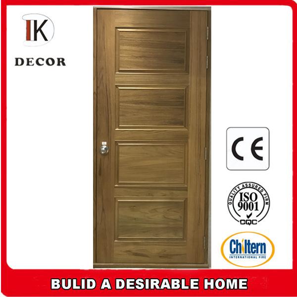 Hot Item Cheap Wooden Internal Door 4 Panel Interior Doors With Frame