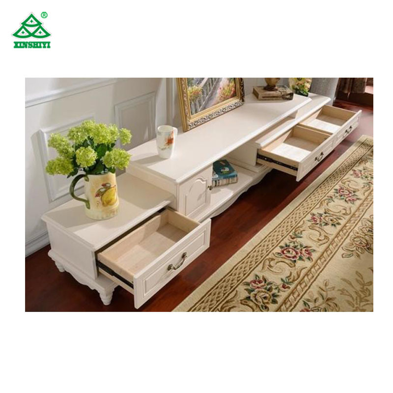 China Wall Unit White Corner TV Stand Cabinet Wooden Furniture ...