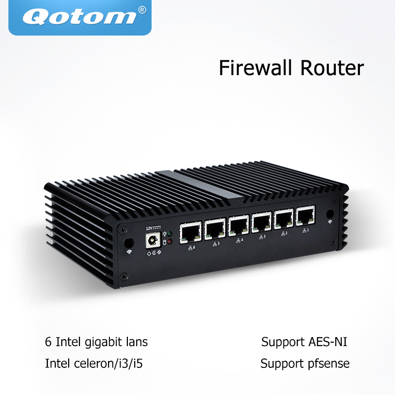 [Hot Item] Qotom Q575g6 with Intel Core I7, 6 Intel LAN, Used as a  Router/Firewall/ Proxy/WiFi Access Point