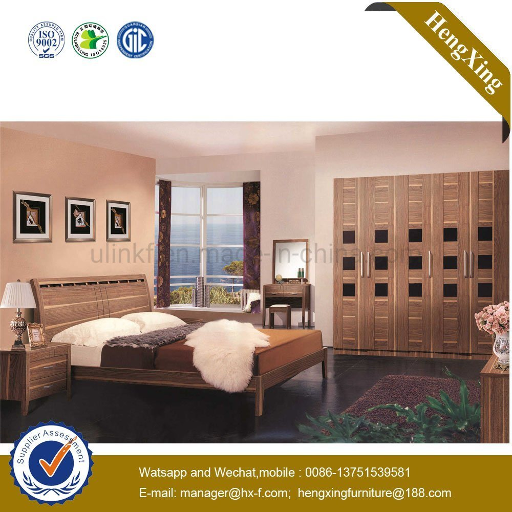 [Hot Item] Modern Design Classic Wood Bed MDF Hotel King Size Bed  (HX-9HT027)