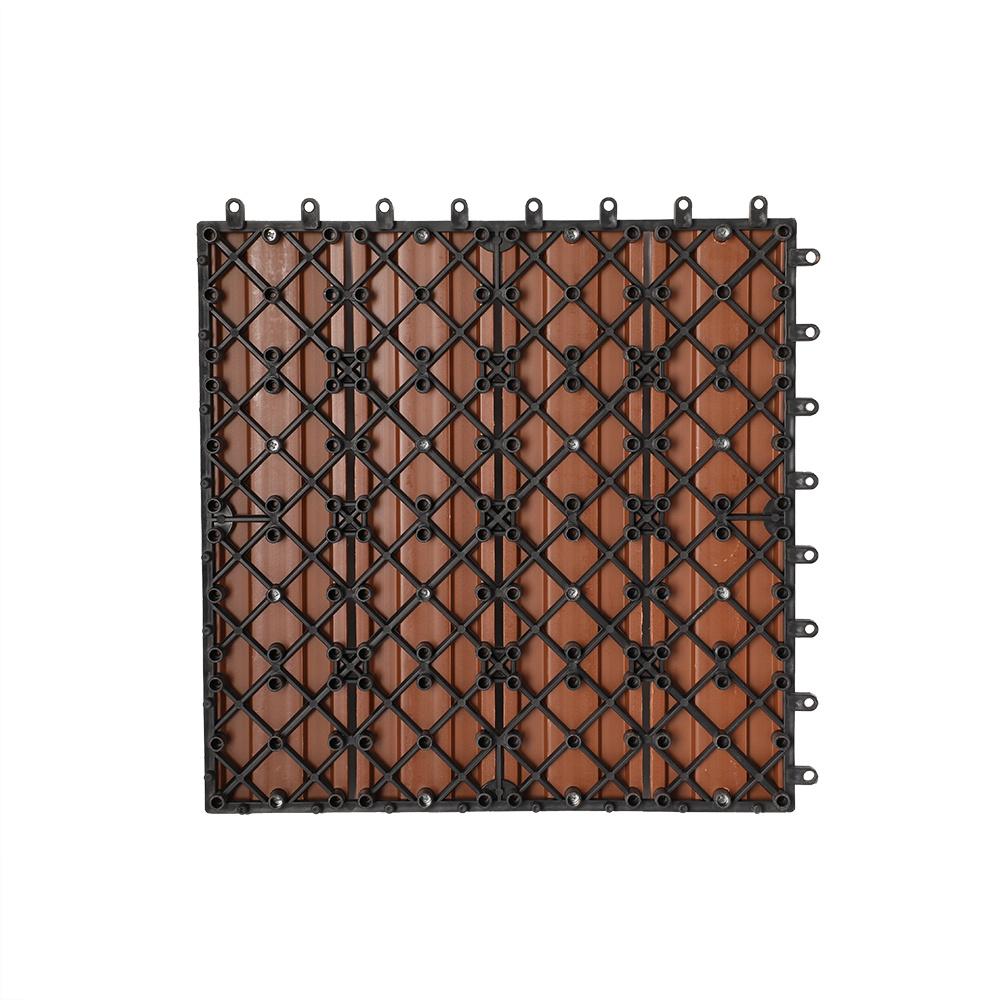 Hot Item Outdoor Wpc Building Diy Deck Tile Material Laminate Wood Plastic Wpc Composite Diy Decking Flooring Panel Board Tile