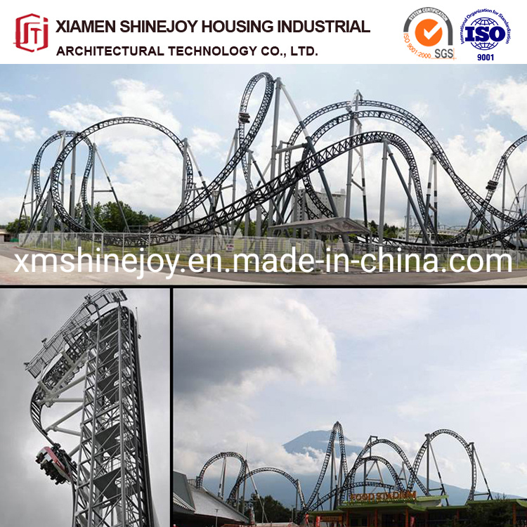 China Steel Structure Design For Big Roller Coaster Playground Equipment Amusement China Game Machine And Geared Motor Price