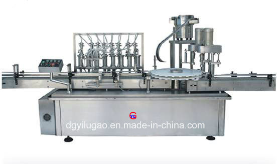 Automatic Bottle Liquid Filling and Screw Capping Machine