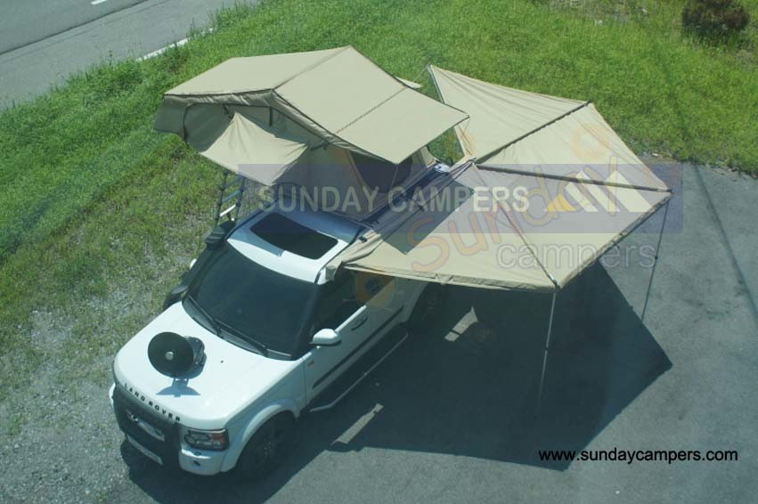 China Car Roof Top Tent With Fox Wing Awning WA03