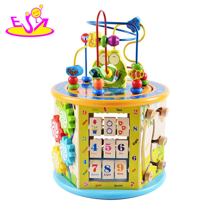 Hot Item New Hottest Educational Wooden Activity Cube For Children Ages 1 And Up W11b153