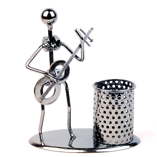 Hl H002 China Metal Figure Pen Holder
